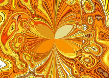 splendor: Creative background. A wonderful harmony of colors, of golden, orange, yellow, wavy diagonal stripes.
