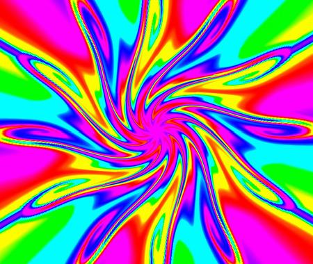 Geometric abstract ornament. Light flower.Magic lighting effect. A wonderful harmony of colors.