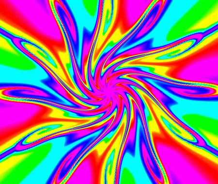 efficiently: Geometric abstract ornament. Light flower.Magic lighting effect. A wonderful harmony of colors.
