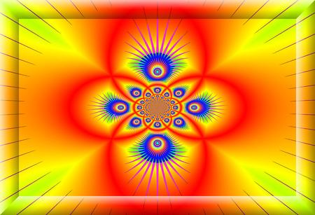 multi colors: Creative decorative background, gorgeous composition in multi colors