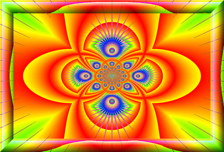 eddy: Eddy currents in red-yellow-green  tones. enchanting fractal perspective.