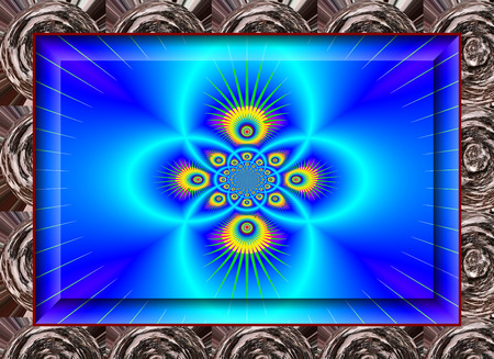 enchanting: Eddy currents in blue tones. enchanting fractal perspective. Stock Photo