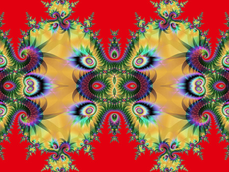 sublime: Fractal perfection, colorful, brilliant and charming prospect, creative background, high art.    Stock Photo