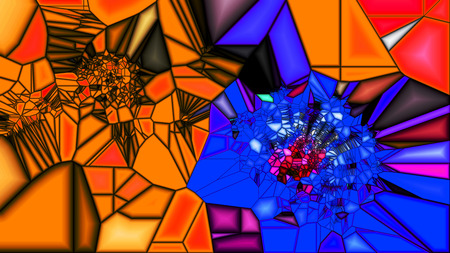 the magnificence: Background-glass   panorama. The magnificence of texture and shape. Multicolored.
