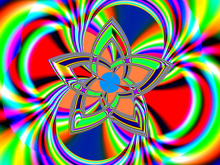 grandeur: Fractal perfection, colorful, brilliant and charming prospect, creative background, high art