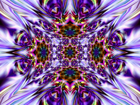 bias: Geometric abstract ornament. Kaleidoscope. Light flower.    A wonderful harmony of colors.   Without Frame.   Stock Photo