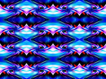 eddy: Abstract geometric ornament. Gradient color perspective. Original-Hintergrund, multicolored. Broken lines.  Cosmic whirlwind.  Eddy currents in blue