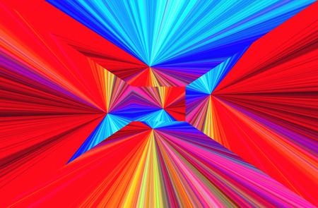 Abstract geometric ornament. Gradient color perspective. Original-Hintergrund, multicolored. Broken lines.