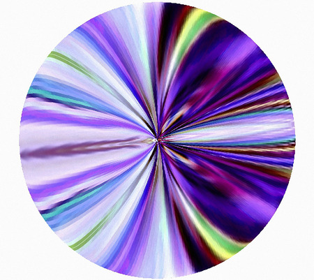 Geometric abstraction. Background. The decoration in the circle.   A wonderful harmony. Violet. Stock Photo