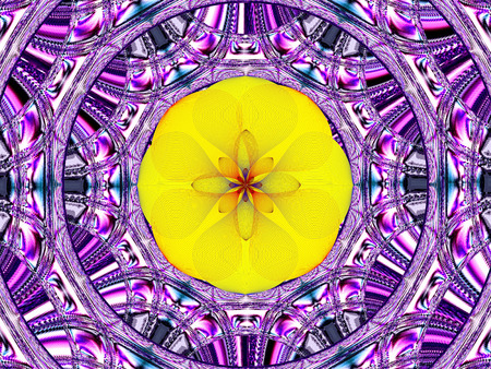 splendor: Creative background. Wonderful composition with. Purple-yellow tone. Stock Photo