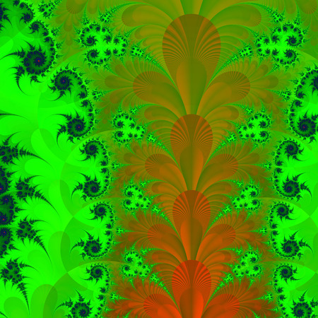 stylishly: Beautiful fractal fantastic decorative ornament style computer graphics. Stock Photo