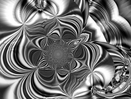 컴퓨터 그래픽: 아름 다운 프랙탈 환상적인 장식 장식 스타일 컴퓨터 그래픽입니다.