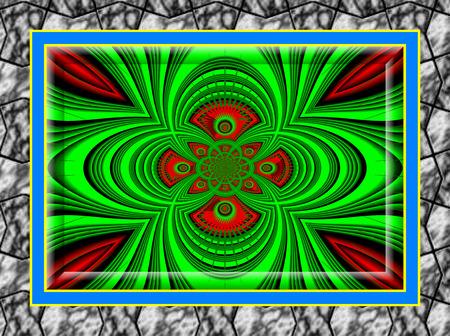 eddy: Eddy currents in grun-braun  tones  enchanting fractal perspective    Stock Photo