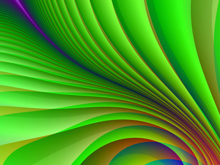 paint samples: Colorful abstract background of green stripes as part of the Firebird feather.