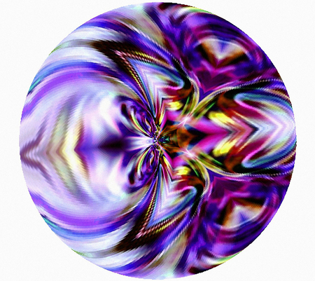 efficiently: Geometric abstraction. Background. The decoration in the circle.            A  wonderful harmony. Violet. Stock Photo