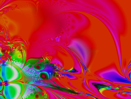 creatively: Beautiful fractal fantastic decorative ornament style computer graphics. Stock Photo