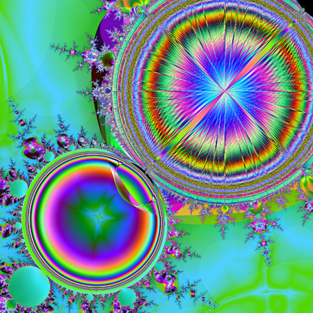 컴퓨터 그래픽: Beautiful fractal fantastic decorative ornament style computer graphics. 스톡 사진