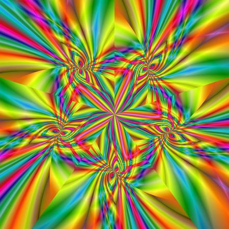 컴퓨터 그래픽: Beautiful fractal fantastic decorative ornament style computer graphics 스톡 사진