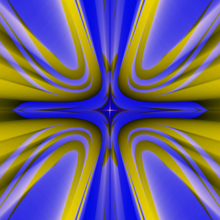 prospect: Fractal perfection, colorful, brilliant and charming prospect, creative  background, high art. Stock Photo