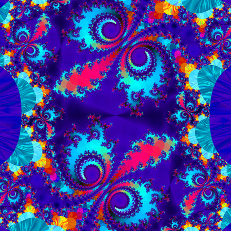 the prospect: Fractal perfection, colorful, brilliant and charming prospect, creative background, high art.