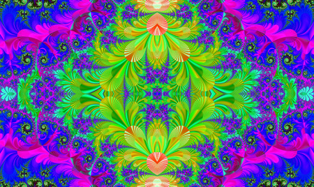 Fractal perfection, colorful, brilliant and charming prospect, creative background, high art.