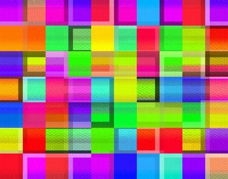 grandeur: Colorful large squares - pixels, as the basis for decorative works.