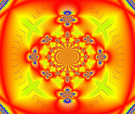 bias: Creative decorative background, gorgeous composition in red and yellow colors.