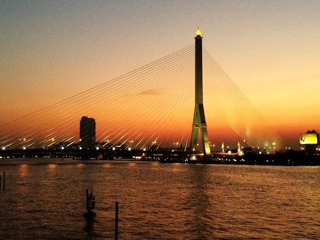 viii: Sunset over Rama VIII Bridge