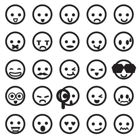 man confused: different emotions Illustration