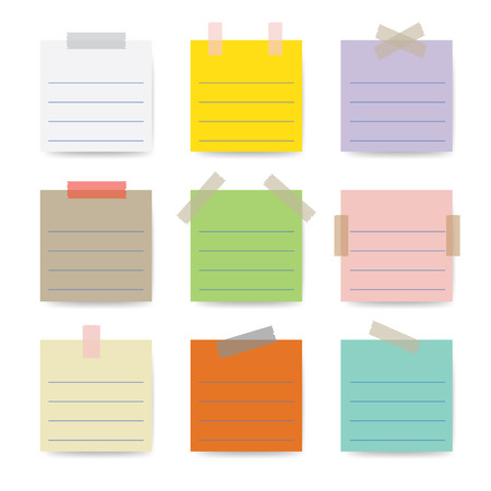 sticky notes: Sticky Notes. Vector illustration
