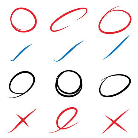 removing: true or false free hands Illustration