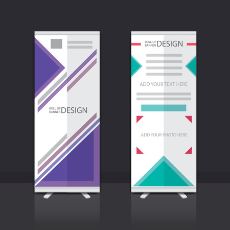 banner stand: Roll Up Banner Stand Vector