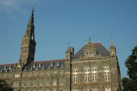 georgetown: Georgetown University Clock Tower and Healy Hall
