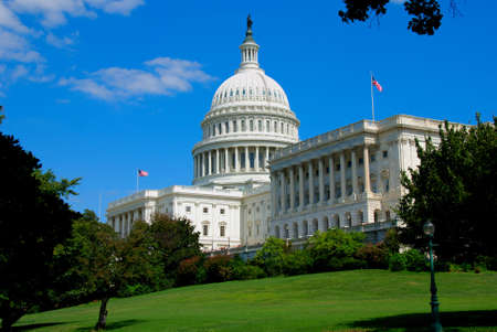 lobbying: The United States Capitol is the capitol building that serves as the seat of government for the United States Congress, the legislative branch of the U.S. federal government. It is located in Washington, D.C., on top of Capitol Hill at the east end of the Stock Photo