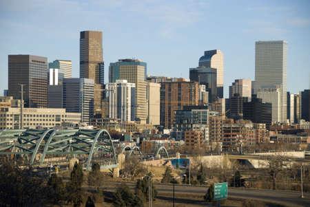Denver Skyline on A Blue Sky Day Stock Photo - 2619667