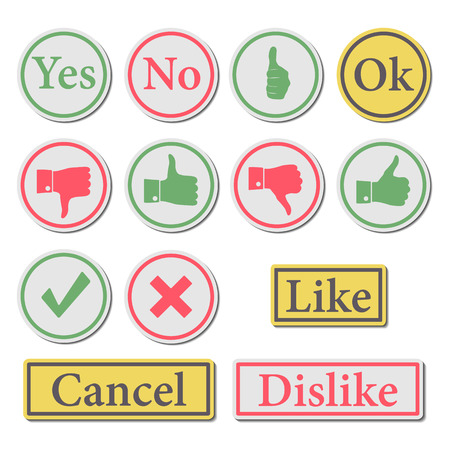 displeased: Set of stylish buttons