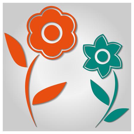 background image: Imagen de fondo de varias flores de colores, ilustraci�n vectorial.