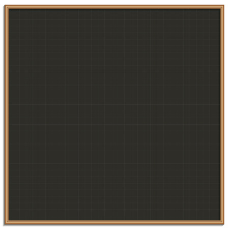 drawing board: Black chalk drawing board with a grid Illustration