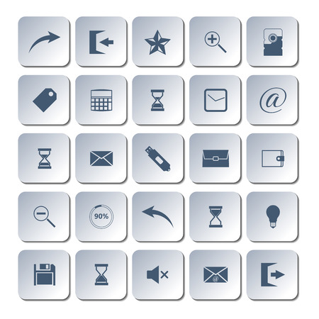 zoom in: Set of universal web icons , flat style