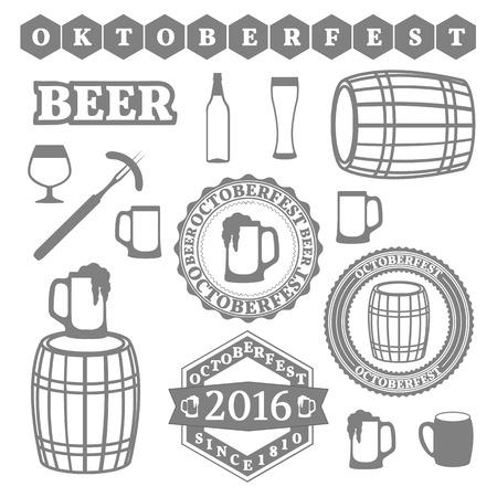 bbq barrel: Set of Oktoberfest