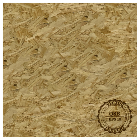 Texture of oriented strand board, vector illustration.