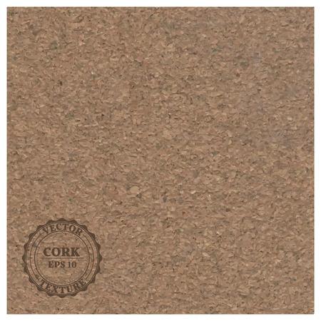fine: Fine grain cork realistic texture, vector illustration.