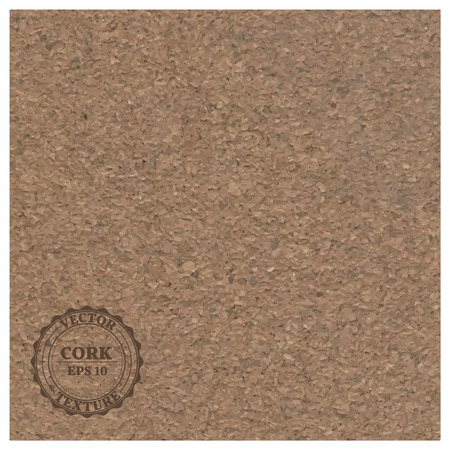 sawdust: Fine grain cork realistic texture, vector illustration.