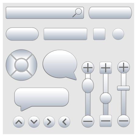 rectangular: Set of stylish various web elements, vector illustration.