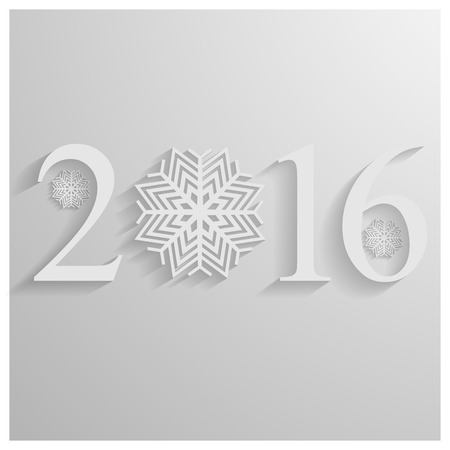 two thousand: Background to the new two thousand sixteenth year with snowflakes, vector illustration. Illustration
