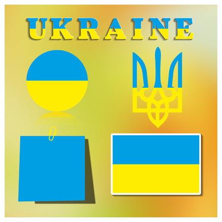 symbolism: Set Ukrainian symbolism, part four vector illustration.