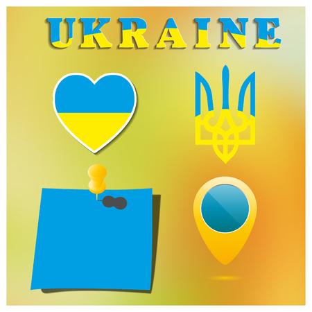 symbolism: Set Ukrainian symbolism, part five vector illustration.