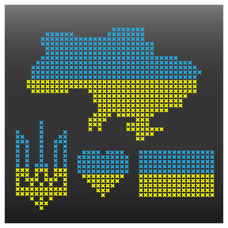 symbolism: Set Ukrainian symbolism, part seven vector illustration.