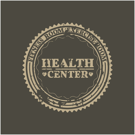 dirty room: Round Grunge emblem health center