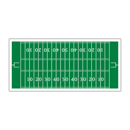 green field: A field to play football with markup, vector illustration.
